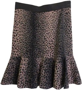 Rebecca Taylor Skirt Brown and Beige