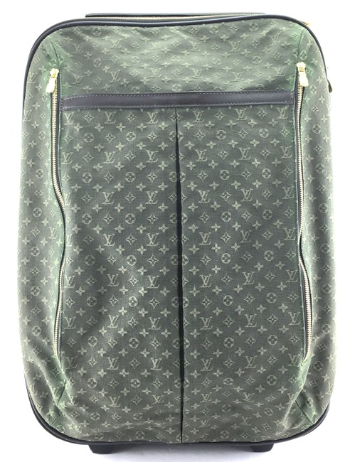 Item - #24745 Pegase 55 Roller Luggage Suitcase Carry On Green Mini Lin Idylle Monogram Canvas Weekend/Travel Bag
