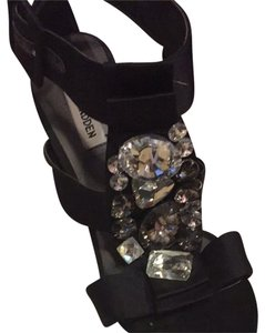 Steve Madden Black With Stones Sandals