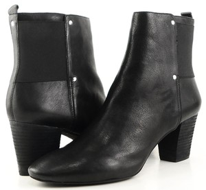 DKNY Ankle Leather Black Boots