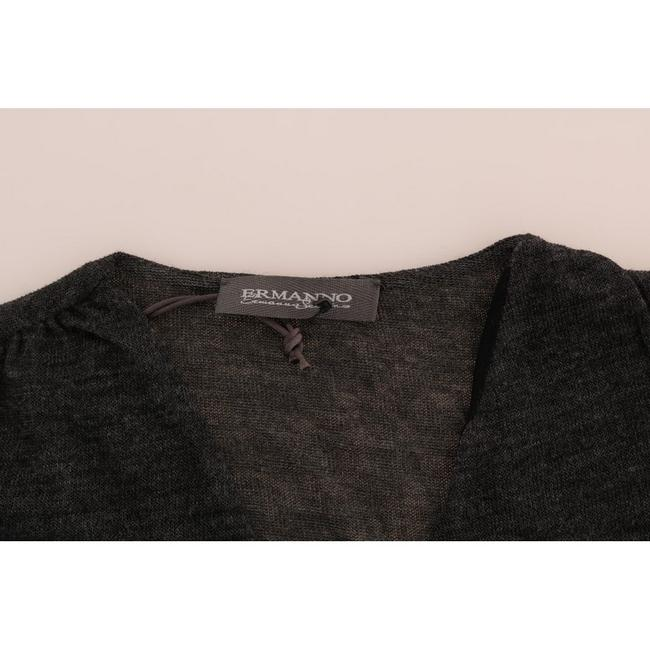 Ermanno Scervino Women's Wool Lace Long Sleeved T-shirt D1553-3 T Shirt Gray Image 4