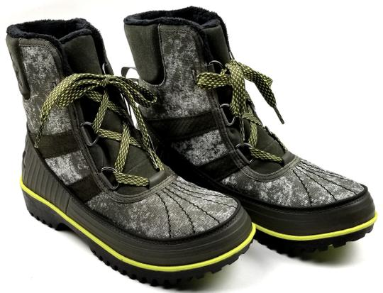 Sorel Green Camo Canvas Boots Image 1