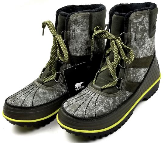 Sorel Green Camo Canvas Boots Image 2