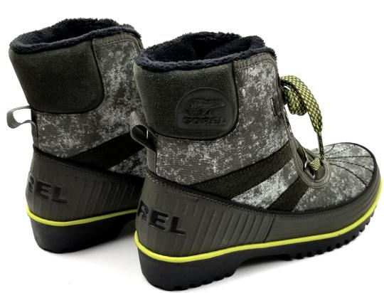 Sorel Green Camo Canvas Boots Image 3