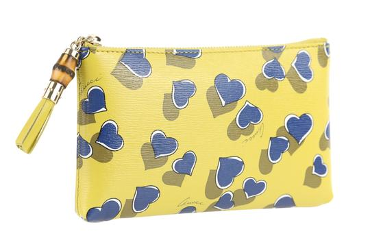Gucci Heartbeat Leather Pouch Multicolor Clutch Image 1