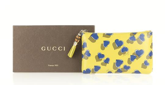 Gucci Heartbeat Leather Pouch Multicolor Clutch Image 11