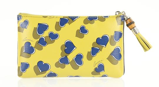 Gucci Heartbeat Leather Pouch Multicolor Clutch Image 2