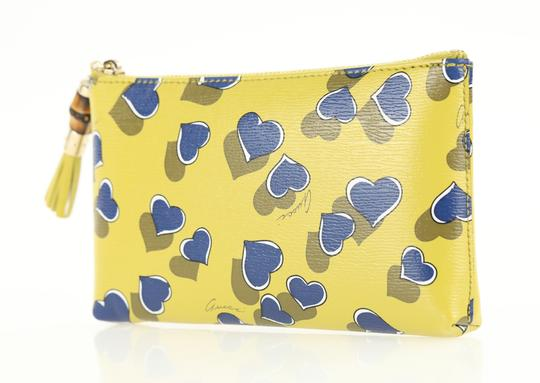Gucci Heartbeat Leather Pouch Multicolor Clutch Image 3