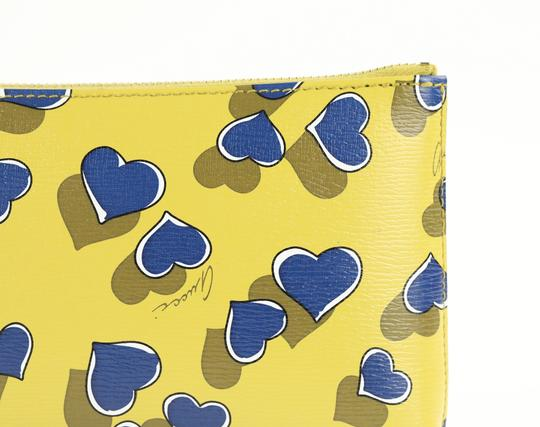 Gucci Heartbeat Leather Pouch Multicolor Clutch Image 7