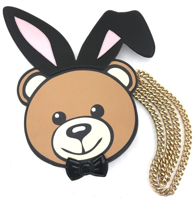 Item - Shoulder #24752 Extremely Rare Playboy Bunny Bear Long Chain Strap Brown Leather Cross Body Bag