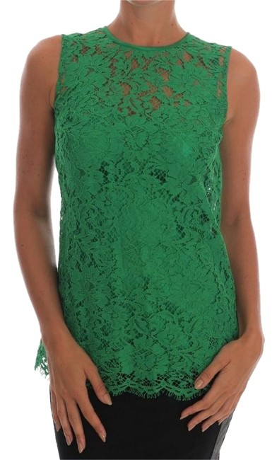 Preload https://img-static.tradesy.com/item/24548267/dolce-and-gabbana-green-d1437-2-women-s-floral-lace-it-38-xs-blouse-size-4-s-0-1-650-650.jpg
