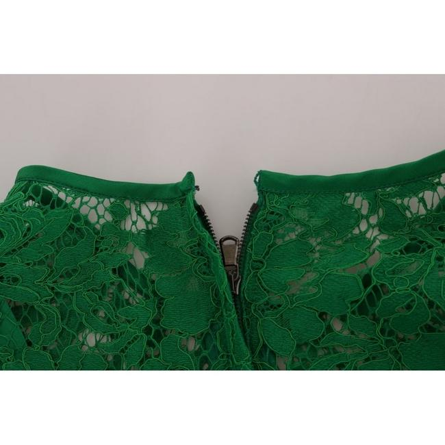 Dolce&Gabbana D1437-2 Women's Floral Lace Top Green Image 5