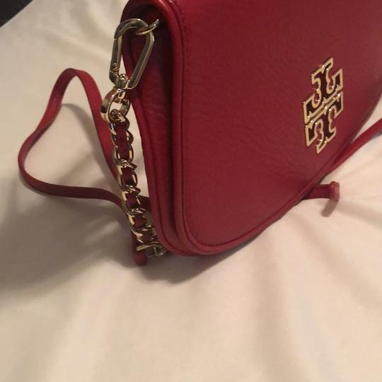 Tory Burch Red Clutch Image 1