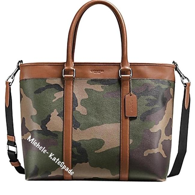 Item - Men's Perry Business Camouflage Tote F55137 Green Camo Laptop Bag