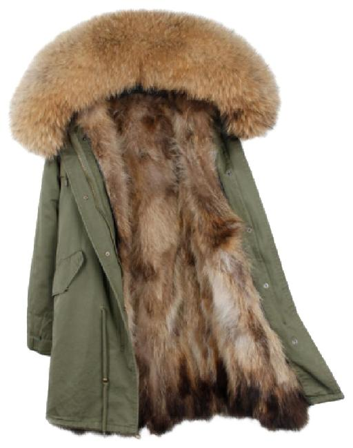 Item - Olive Green Parka with Real Lining Coat Size 8 (M)