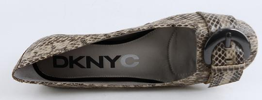 DKNYC Leather Sandals Clay Multi Snake Flats Image 3