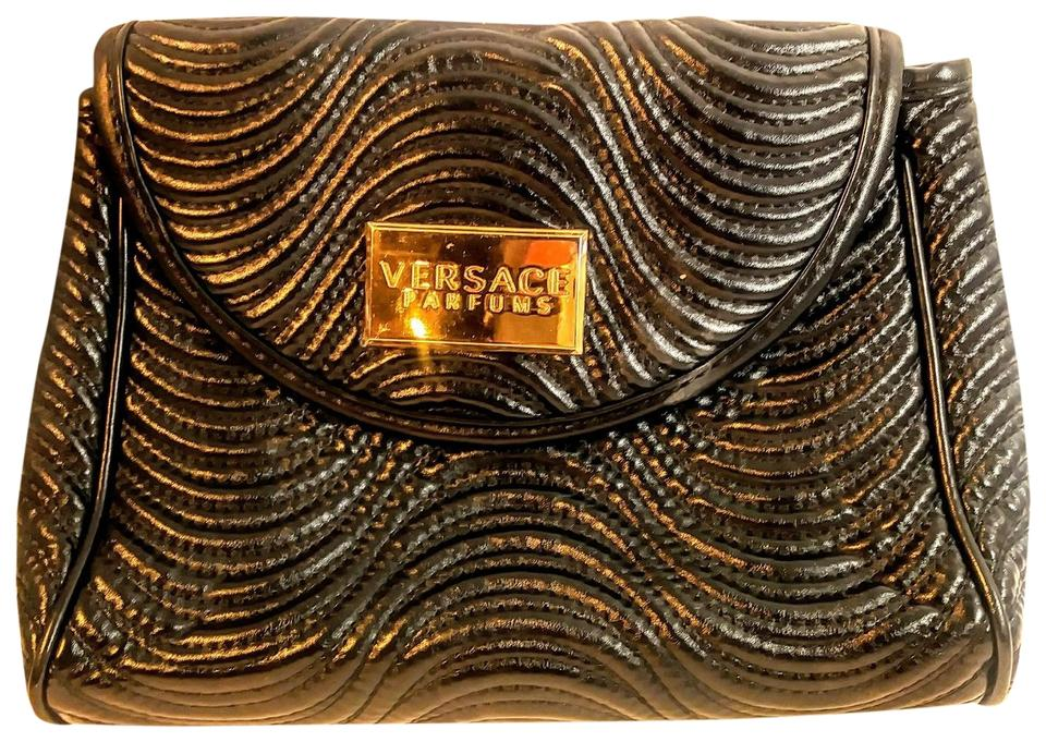 d96a3d6e340c Versace Parfums Black Faux Leather Weekend Travel Bag - Tradesy