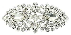 Other New PIN AND BROOCH FACETED OVAL STONE CRYSTAL