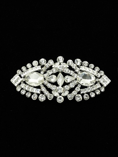 Other New PIN AND BROOCH FACETED OVAL STONE CRYSTAL Image 2
