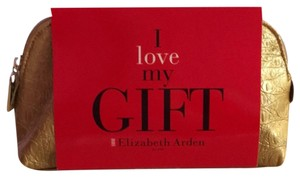 Elizabeth Arden Gold cosmetic bag