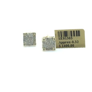 Other diamond squared earrings