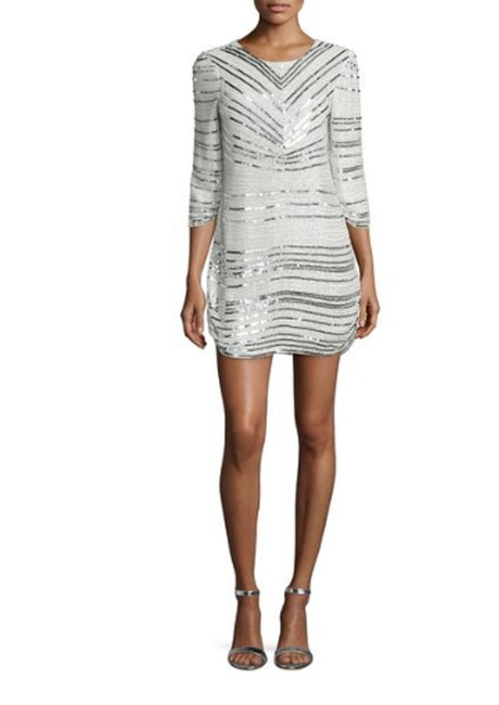 Preload https://img-static.tradesy.com/item/24548575/parker-silver-petra-34-sleeve-beaded-short-cocktail-dress-size-2-xs-0-0-650-650.jpg