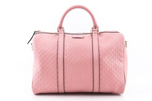 Gucci Boston Leather Satchel in Pink