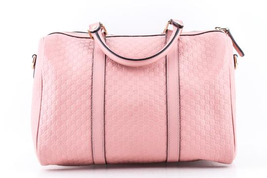 Gucci Boston Leather Satchel in Pink Image 1