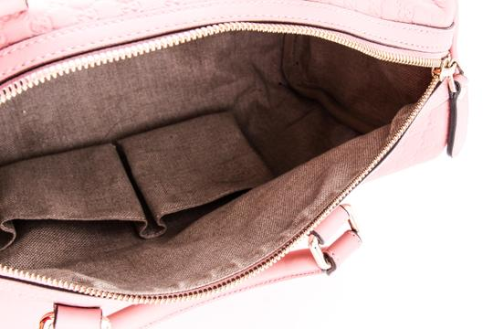 Gucci Boston Leather Satchel in Pink Image 10