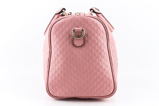 Gucci Boston Leather Satchel in Pink Image 2