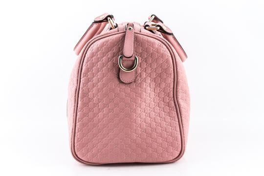 Gucci Boston Leather Satchel in Pink Image 3