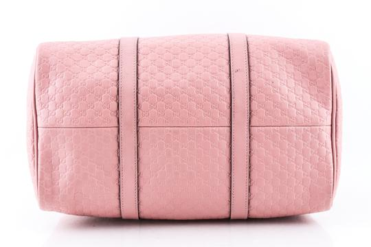 Gucci Boston Leather Satchel in Pink Image 4