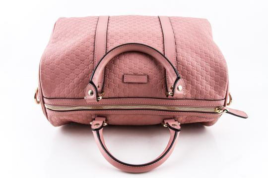 Gucci Boston Leather Satchel in Pink Image 5
