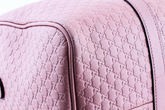 Gucci Boston Leather Satchel in Pink Image 6
