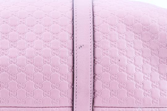 Gucci Boston Leather Satchel in Pink Image 7
