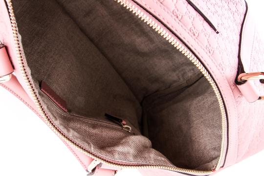 Gucci Boston Leather Satchel in Pink Image 9