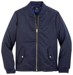 J.Crew Bomber Classic Vents Lined Navy Jacket