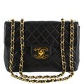 Chanel Quilted Lambskin Leather Classic Gold Hardware Shoulder Bag Image 0