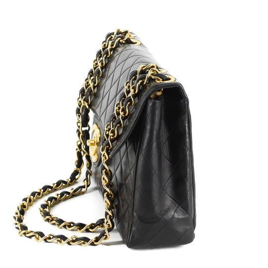 Chanel Quilted Lambskin Leather Classic Gold Hardware Shoulder Bag Image 1