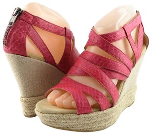 DKNY Leather Pink Sandals