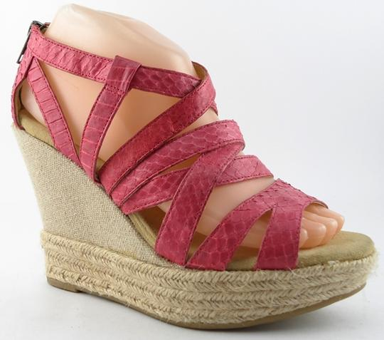 DKNY Leather Pink Sandals Image 1