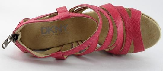 DKNY Leather Pink Sandals Image 2