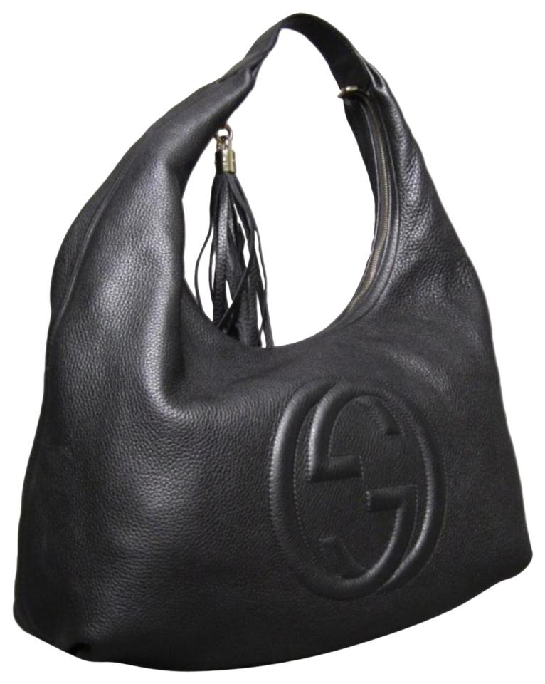 df836c92c04ab Gucci Soho Large Black Leather Hobo Bag - Tradesy