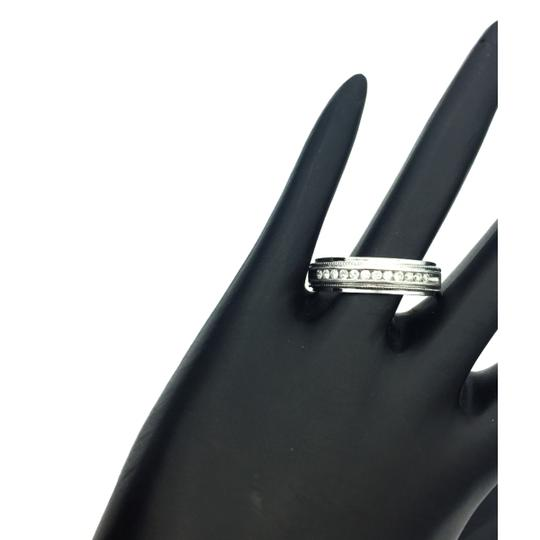 other 14k white gold diamond men's wedding band Image 1