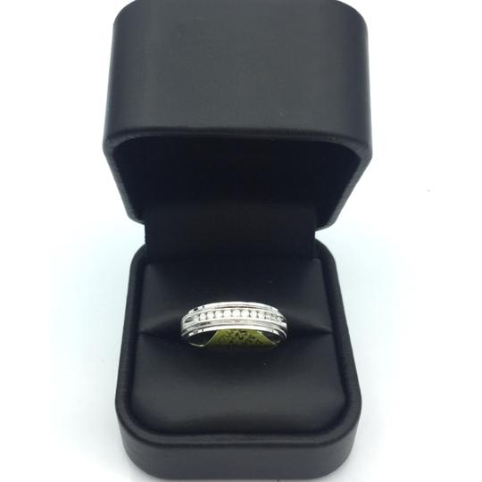 other 14k white gold diamond men's wedding band Image 2