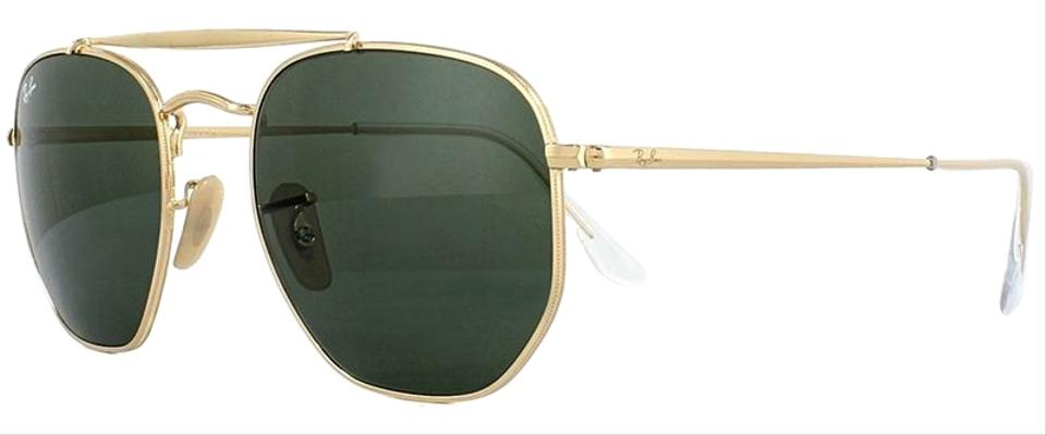 744219ab0fe Ray-Ban Marshal Gold Frame   Green Classic G-15 Lens Rb3648 001 Round Style  Unisex Sunglasses