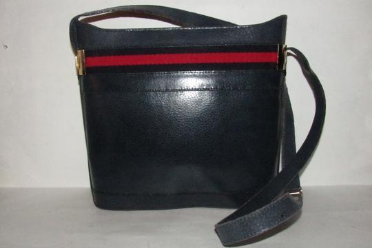 Gucci Early Style Mint Vintage Rare Red/Blue Top Boxy Bucket Shoulder Bag Image 1