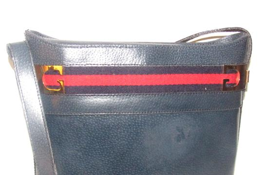 Gucci Early Style Mint Vintage Rare Red/Blue Top Boxy Bucket Shoulder Bag Image 11