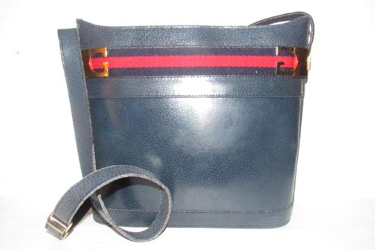Gucci Early Style Mint Vintage Rare Red/Blue Top Boxy Bucket Shoulder Bag Image 6