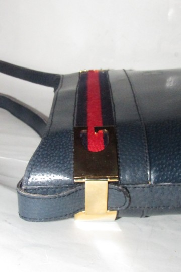 Gucci Early Style Mint Vintage Rare Red/Blue Top Boxy Bucket Shoulder Bag Image 9